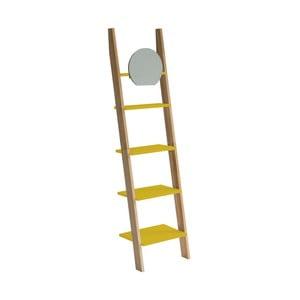 Žltá oporná polica so zrkadlom Ragaba Ashme Ladder
