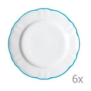 Sada 6 jedálenských tanierov Parisienne Azzurro