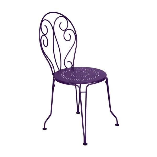 Fialová kovová stolička Fermob Montmartre