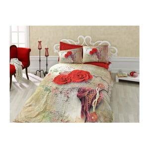Bavlnené obliečky s plachtou na dvojlôžko Greda, 200 x 220 cm