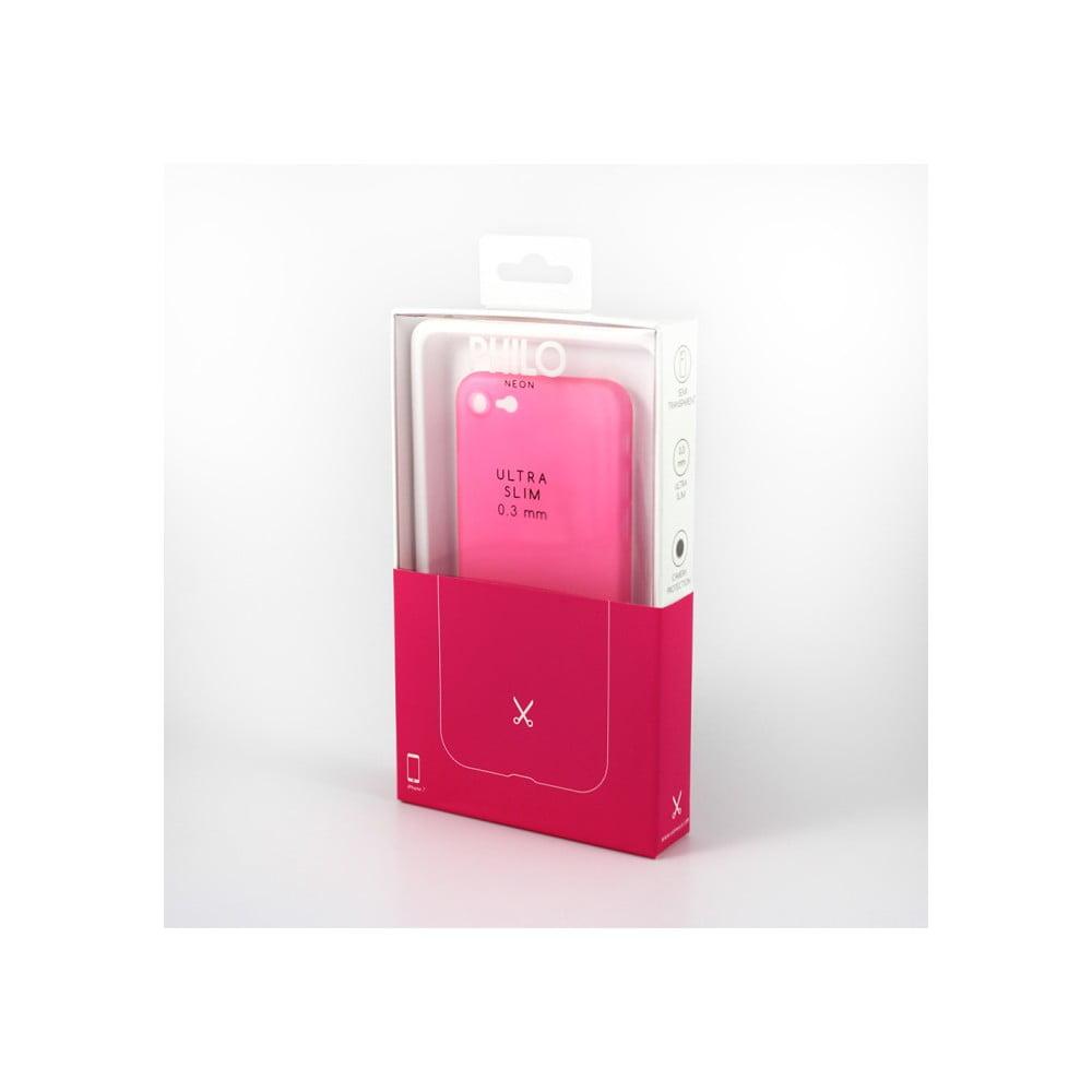 Ružový ochranný kryt pre iPhone 7 Philo Ultra Slim