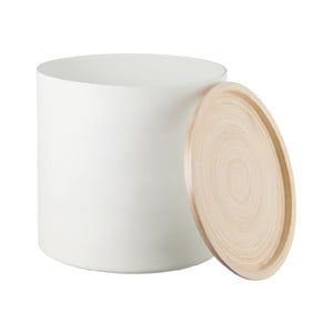 Bambusová dóza Bamboo White