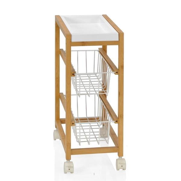 Košíky na kolieskach Bamboo, výška 56 cm