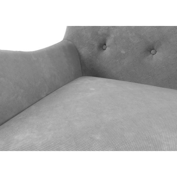 Sivá pohovka pre troch Wintech Zefir