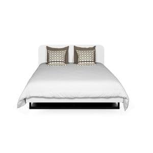 Biela posteľ s čiernymi nohami TemaHome Mara, 180 × 200 cm