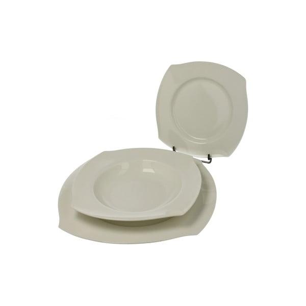 Porcelánová sada tanierov Bianco, 18 ks
