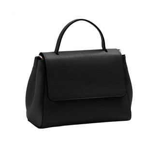 Čierna kabelka z pravej kože Andrea Cardone Pakula