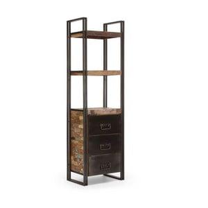 Knižnica z recyklovaného dreva SOB Upcycle
