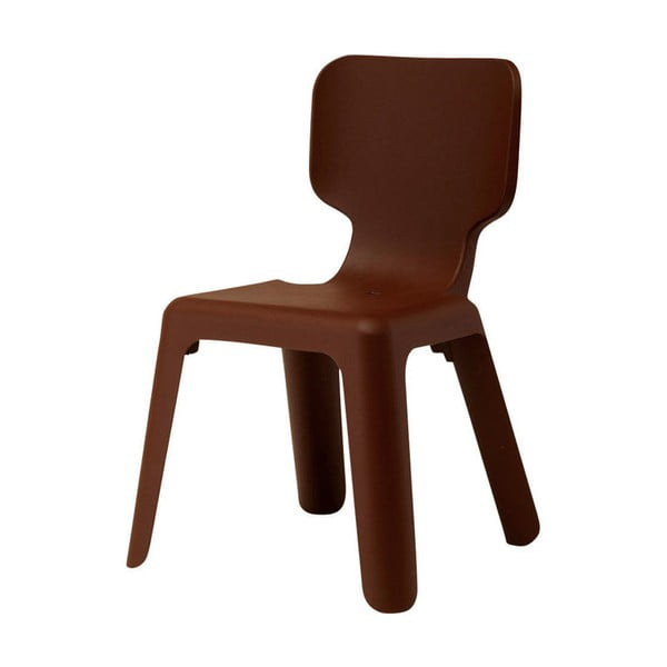 Detská hnedá stohovateľná stolička Magis Alma