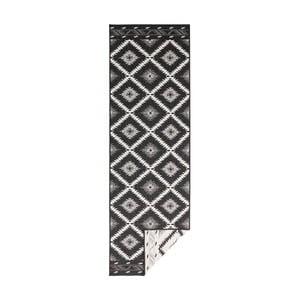 Čierno-krémový obojstranný vysokoodolný behúň Bougari Twin Supreme Duro, 80×350 cm