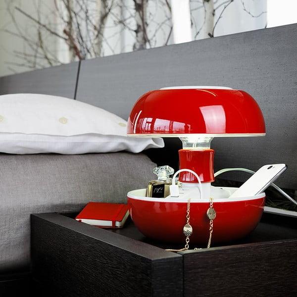 Stolná lampa a nabíjačka v jednom Joyo Classic, červená
