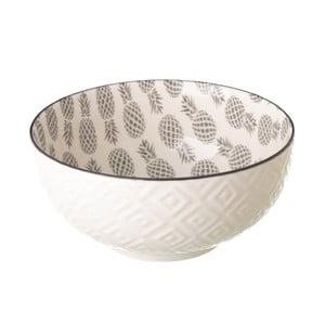 Sivo-biela porcelánová miska Unimasa Pinna, priemer 14,9 cm