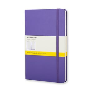 Zápisník Moleskine Violet Hard LG, štvorčekový