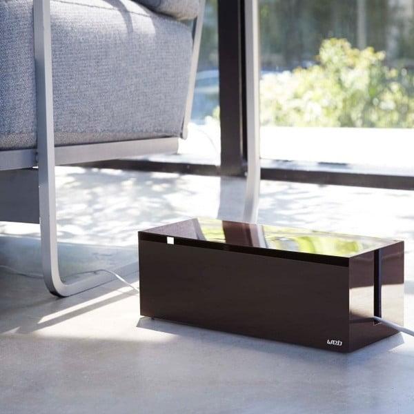 Čierny boxna nabíjačky YAMAZAKI Web Cable Box