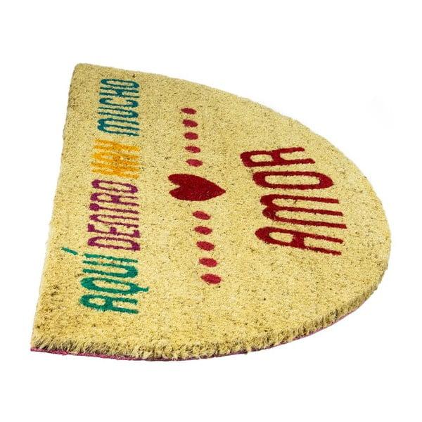 Rohožka z kokosových vlákien Fisura Amor Multi, 40x70cm