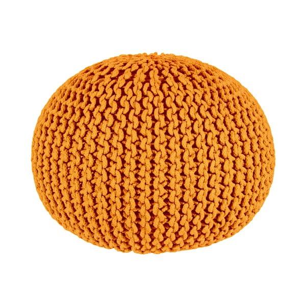 Puf Interccio Orange, 50x35 cm