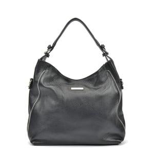 Čierna kožená kabelka Mangotti Cassie