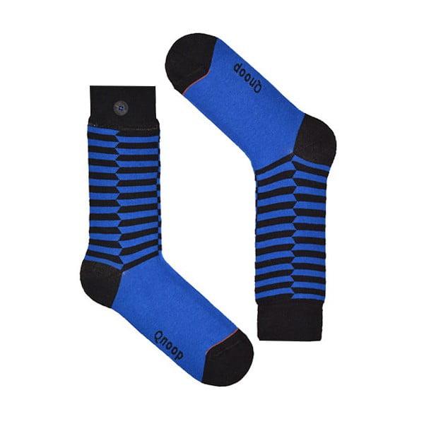 Ponožky Qnoop Linear Skewed Blue, veľ. 43-46