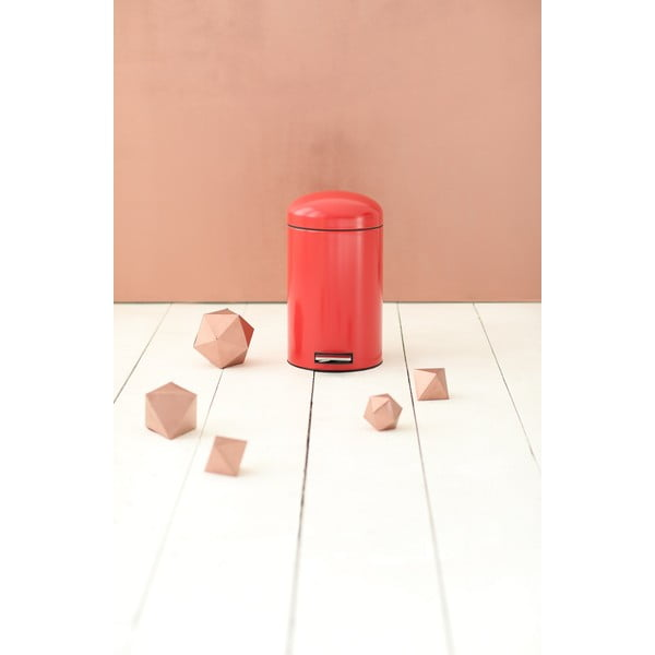 Pedálový kôš Retro Bin, 12 l, zářivě červený
