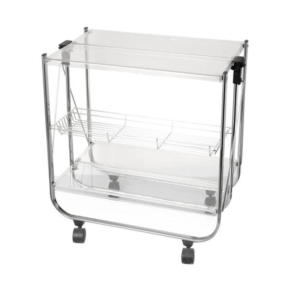 Skladací stolík Brandani Chariot Pliable Transparent