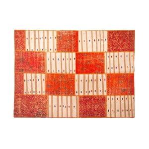 Vlnený koberec Allmode Orange Kilim, 150x80 cm