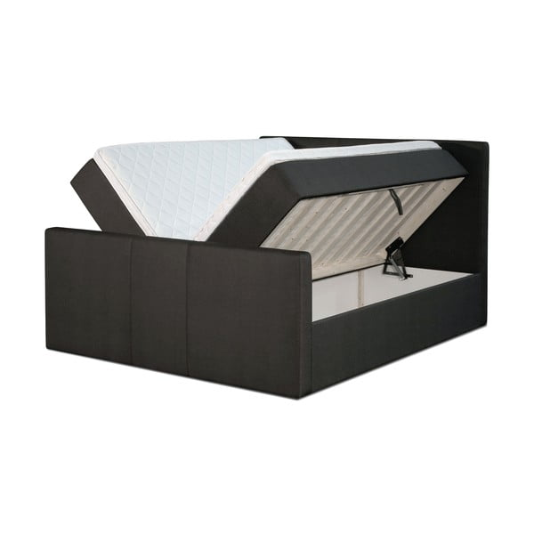 Čierna posteľ s matracom Gemega Amberbox, 180x200 cm