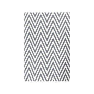 Vlnený koberec Zig Zag Grey, 90x60 cm