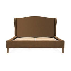 Hnedá posteľ z bukového dreva Vivonita Windsor, 160 × 200 cm