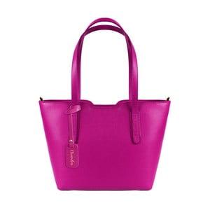 Fuksiová kožená kabelka Maison Bag Alicia