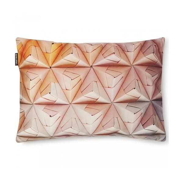 Ružová obliečka na vankúš Snurk Geogami, 35 x 50 cm
