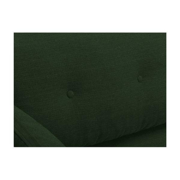 Zelená trojmiestna pohovka Mazzini Sofas Elena, s leňoškou na ľavom rohu