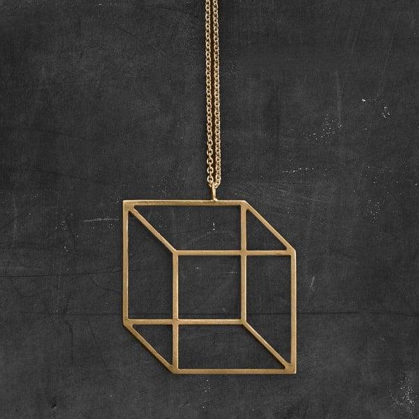 Náhrdelník Cube Gold z kolekcie Geometry