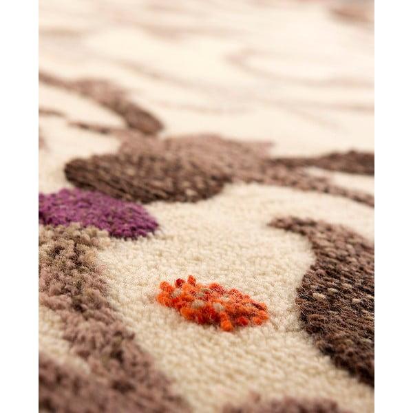 Vlnený koberec Dama no. 625, 60x120 cm, krémový