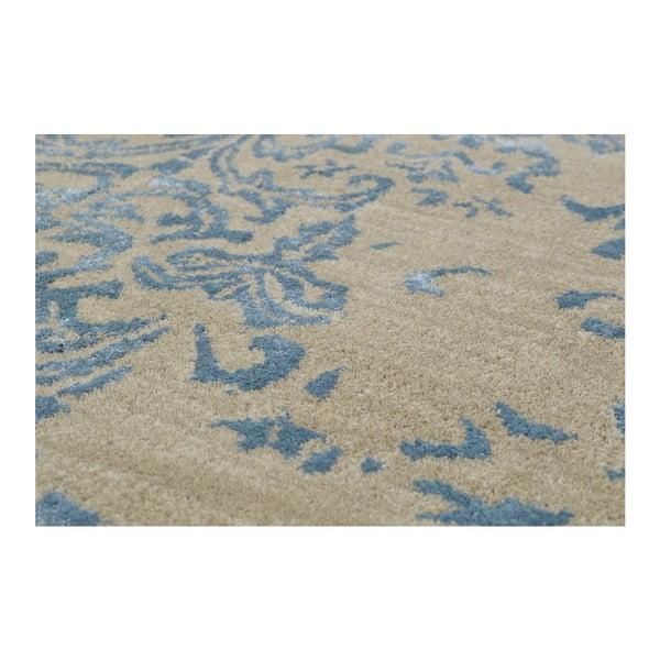 Ručne tuftovaný modrý koberec New Jersey Light, 153x244 cm