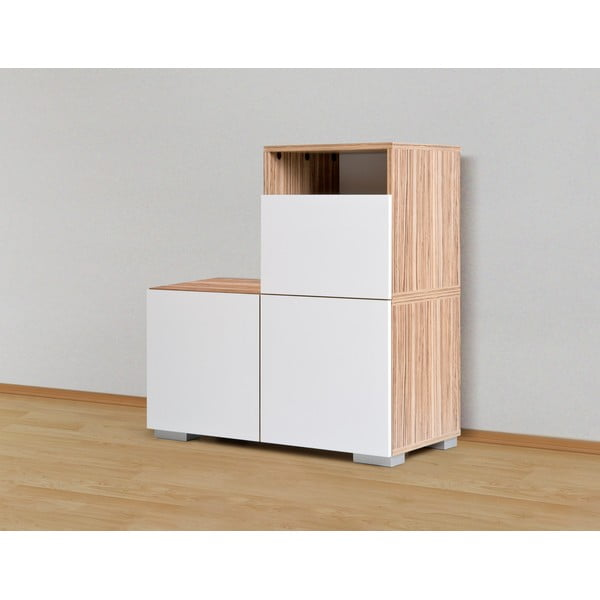 Úložná komoda Decoflex Unit, biela/samba