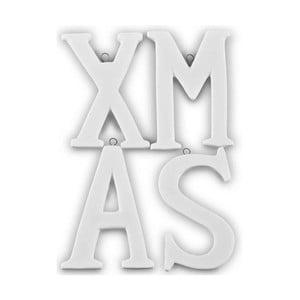 Dekoratívne 4 písmená Xmas