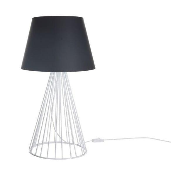 Čiernobiela stolová lampa Wiry