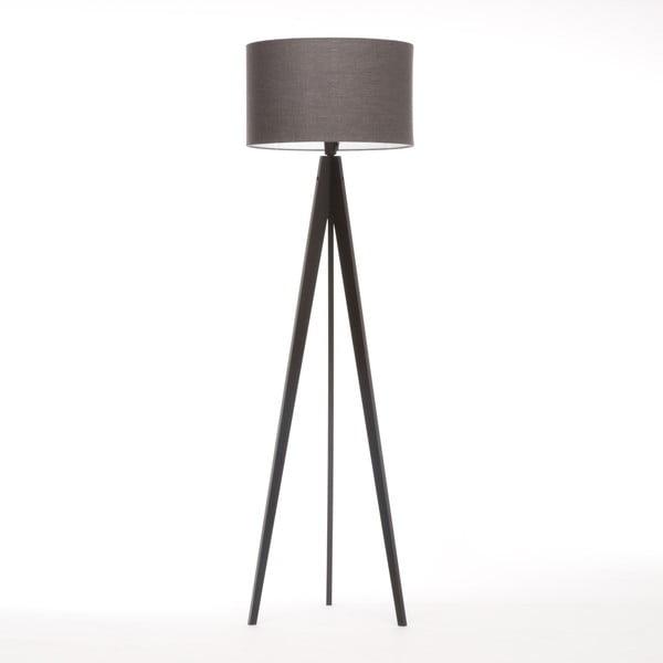 Stojacia lampa Artist Dark Grey Linnen/Black Birch, 125x42 cm