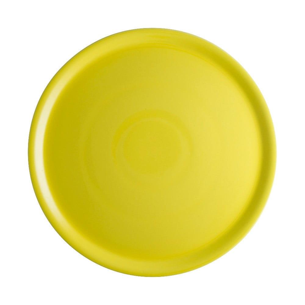 Žltý porcelánový tanier na pizzu Brandani Pizza, ⌀ 31 cm