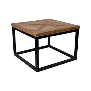 Konferenčný stolík s doskou z teakového dreva HMS collection Mosaic, 55 x 55 cm