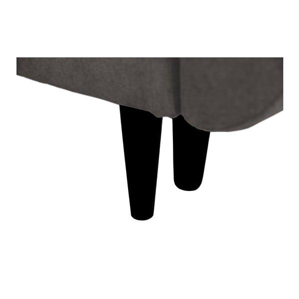 Tmavosivá trojmiestna rozkladacia pohovka s čiernymi nohami Mazzini Sofas Jasmin