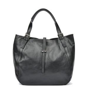 Čierna kožená kabelka Carla Ferreri Calsie Lento