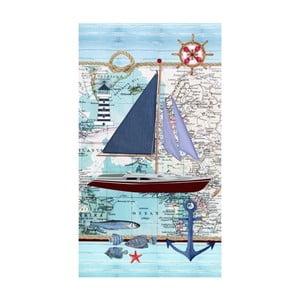 Plážová osuška s potlačou Good Morning Aaron, 100 x 180 cm