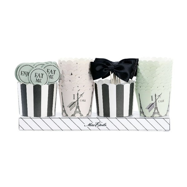 Darčekové balenie košíčkov a ozdôb na muffiny Miss Étoile Paríž