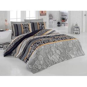 Sivé obliečky s plachtou Love Colors Smart, 160 x 220 cm
