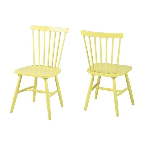 Žltá jedálenská stolička Actona Riano