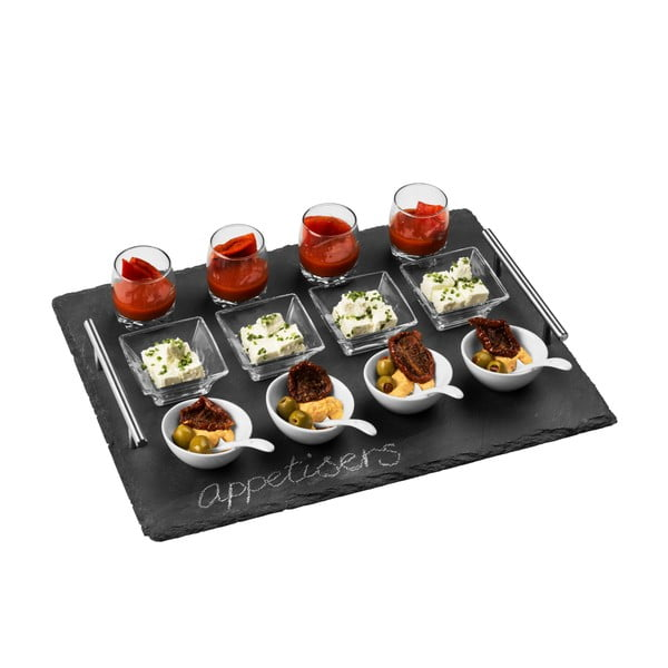 16-dielny bridlicový sevírovací set Premier Housewares Appetisor, 40 x 30 cm