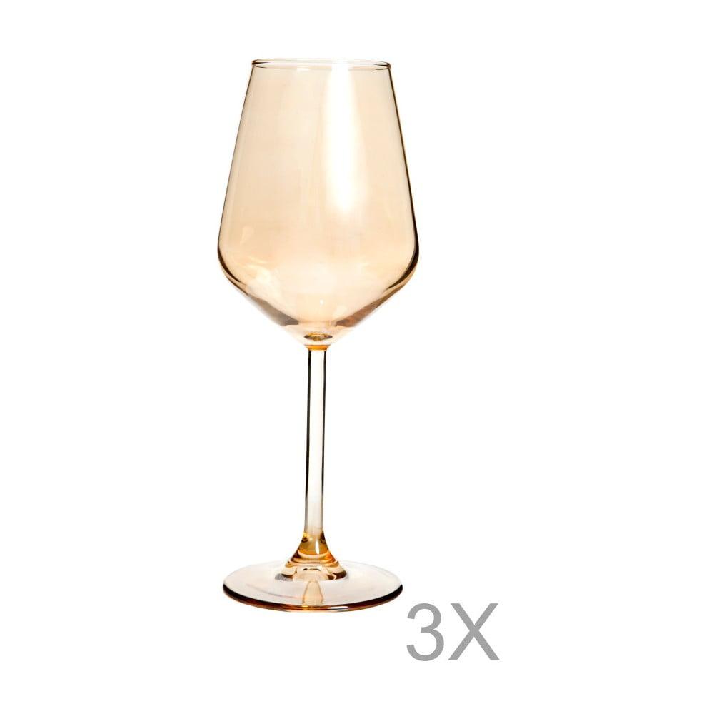 Sada 3 pohárov na víno Mezzo Luxury, 320 ml