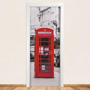 Samolepka na dvere LineArtistica Telephone, 80×215 cm