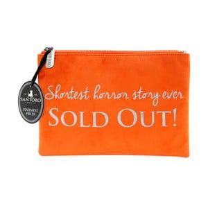 Oranžová dámska lístová kabelka Statement Pieces Sold Out, 24 x 17 cm